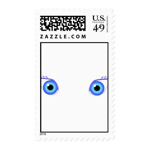 Ojos azules bonitos sellos