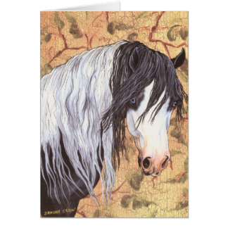 Ojos azules, caballo gitano tarjeta de felicitación