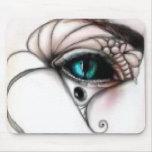 Ojos azules de Mousepad del gótico Alfombrilla De Raton