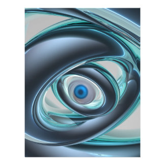 Ojos azules de una máquina membrete a diseño