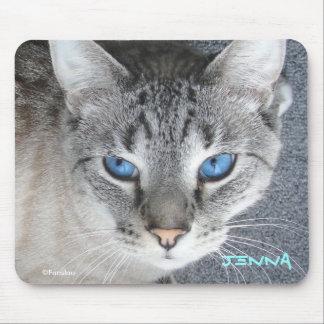 Ojos azules del gatito - cojín de ratón personaliz alfombrilla de raton