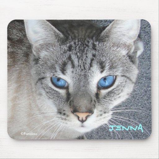 Ojos azules del gatito - cojín de ratón personaliz mousepads