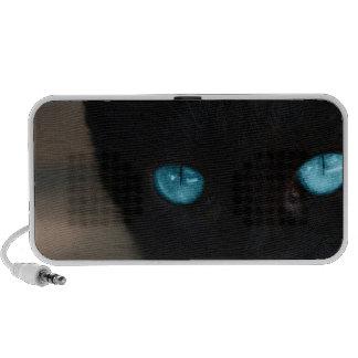 Ojos azules del gato negro de BLCBE Portátil Altavoz