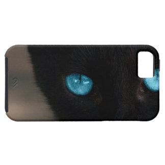 Ojos azules del gato negro de BLCBE Funda Para iPhone 5 Tough