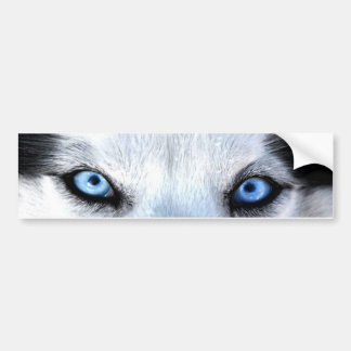 Ojos azules del husky siberiano pegatina para auto