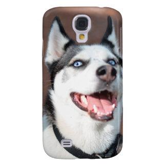 Ojos azules del perro del husky siberiano funda para galaxy s4