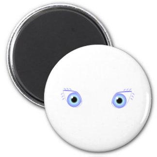 Ojos azules en colores pastel bonitos imán para frigorífico