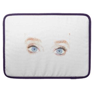 Ojos azules fundas macbook pro