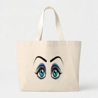 Ojos azules grandes bolsa
