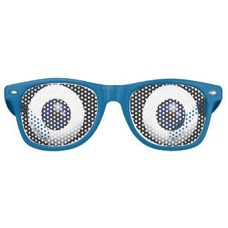 Ojos azules grandes divertidos lentes de sol