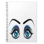 Ojos azules grandes libros de apuntes