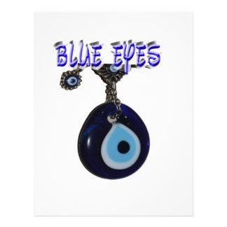 Ojos azules hermosos membrete