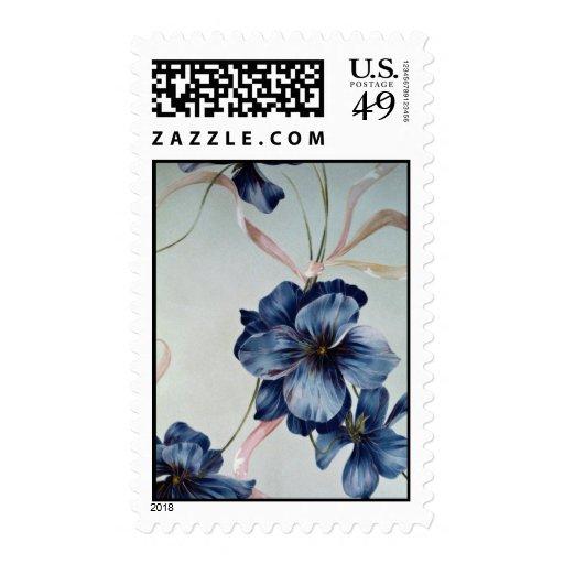 Ojos azules hermosos sellos postales