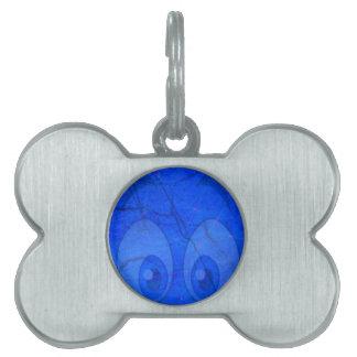 ojos azules placa de mascota
