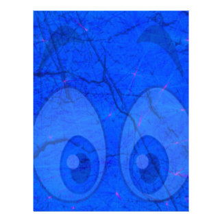 ojos azules membrete a diseño