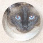 Ojos azules posavaso para bebida