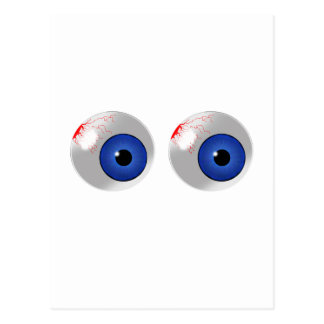 ojos azules postal