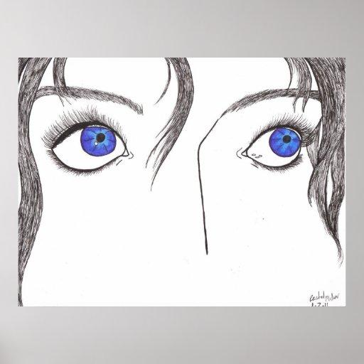Ojos azules póster