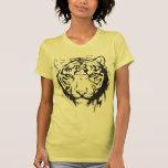 Ojos azules principales del tigre camiseta
