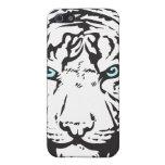 Ojos azules principales del tigre iPhone 5 cárcasas