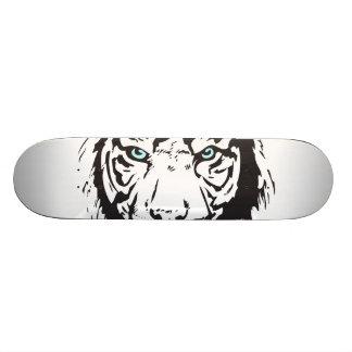 Ojos azules principales del tigre patinetas personalizadas