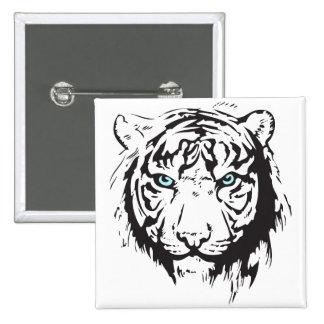 Ojos azules principales del tigre pin