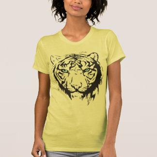 Ojos azules principales del tigre playeras