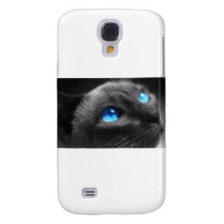 Ojos azules siameses funda para galaxy s4