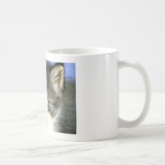 Ojos azules taza de café