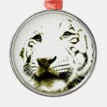 Ojos azules, tigre blanco adorno