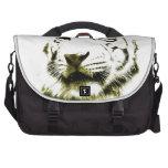 Ojos azules, tigre blanco bolsas para portátil