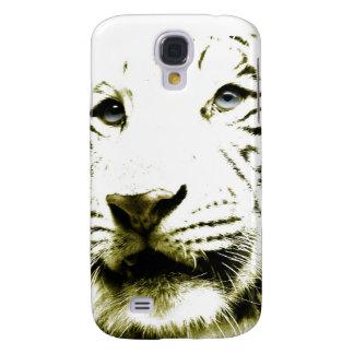 Ojos azules, tigre blanco