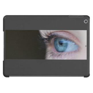Ojos azules y pestañas largas funda para iPad air