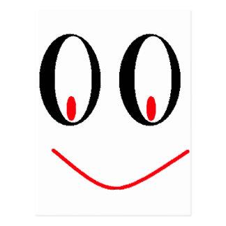 Ojos borrachos del país con sonrisa Smirking de A Postales