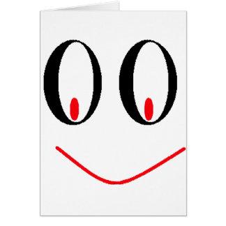Ojos borrachos del país con sonrisa Smirking de A Tarjeta De Felicitación
