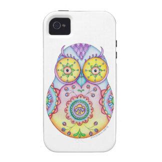 Ojos brillantes de Owlushka iPhone 4 Fundas