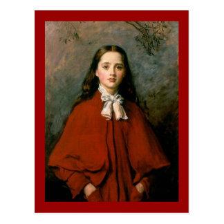 Ojos brillantes de sir John Everett Millais Postal