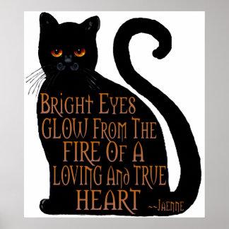 Ojos brillantes póster