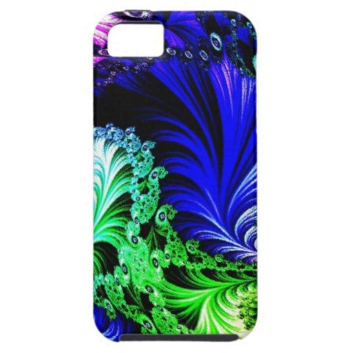ojos coloridos del fractal iPhone 5 Case-Mate fundas