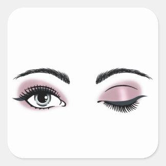 Ojos coquetos colcomanias cuadradases