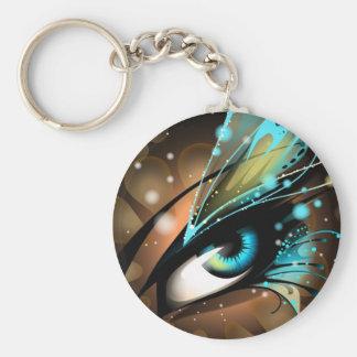 Ojos de azules claros llavero redondo tipo pin