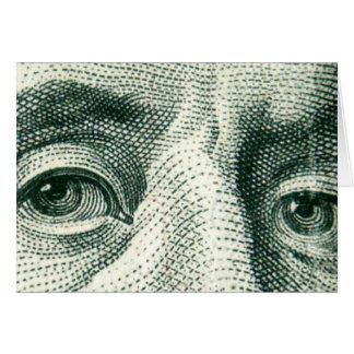 Ojos de Ben Franklin Tarjeta De Felicitación