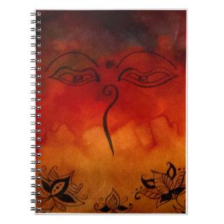 Ojos de Buda Libros De Apuntes Con Espiral