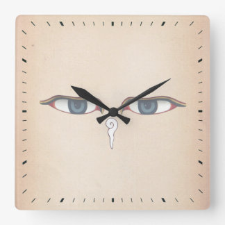 Ojos de Buda Reloj Cuadrado