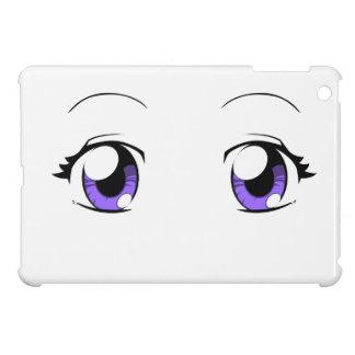 Ojos de encargo del chica del animado del color