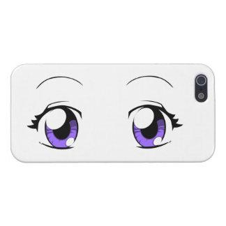 Ojos de encargo del chica del animado del color iPhone 5 carcasa