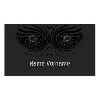 Ojos de foto tarjetas de visita