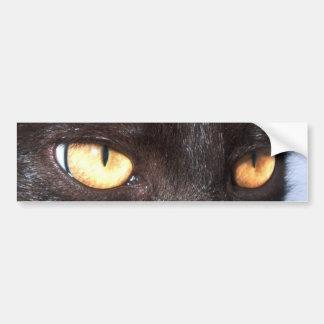 ojos de gato pegatina de parachoque