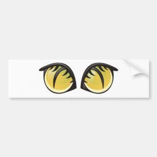 Ojos de gato etiqueta de parachoque