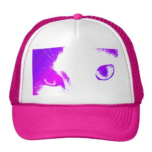 Ojos de gato (coloreados) gorra